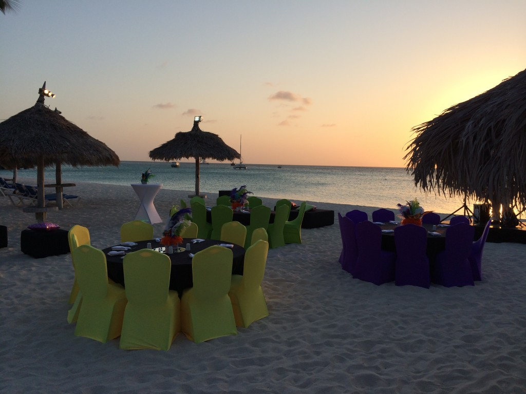 Aruba, sunset dinner, Radisson, hotel