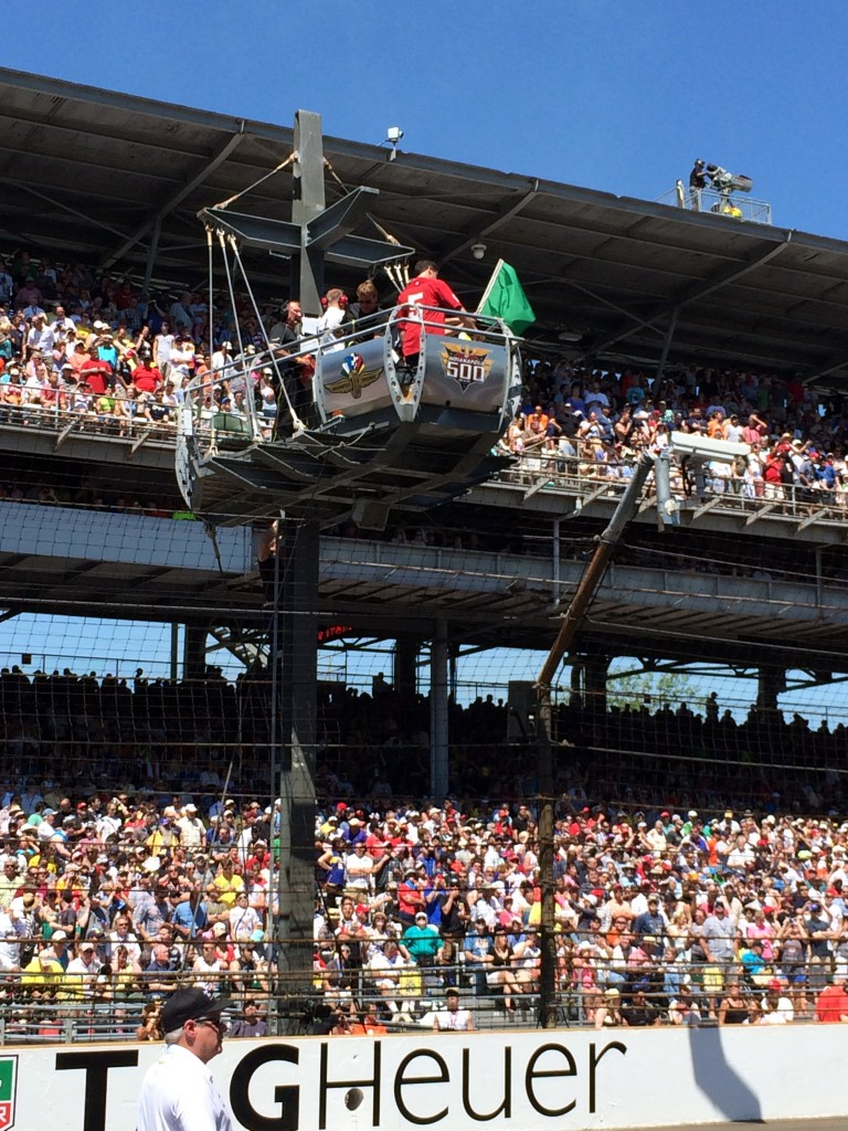 Mark Cuban, green flag, Indy 500