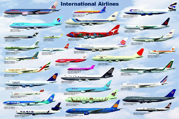 airlines, airplanes