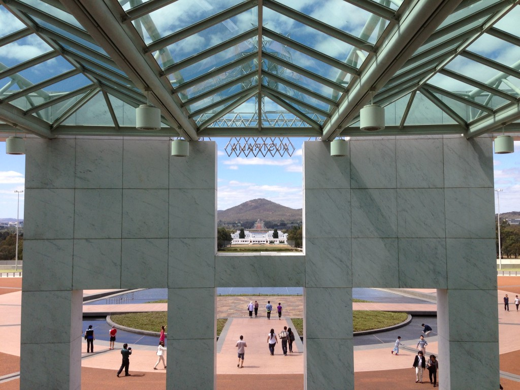 View from New Parliament House, Canberra, Australia, ACT