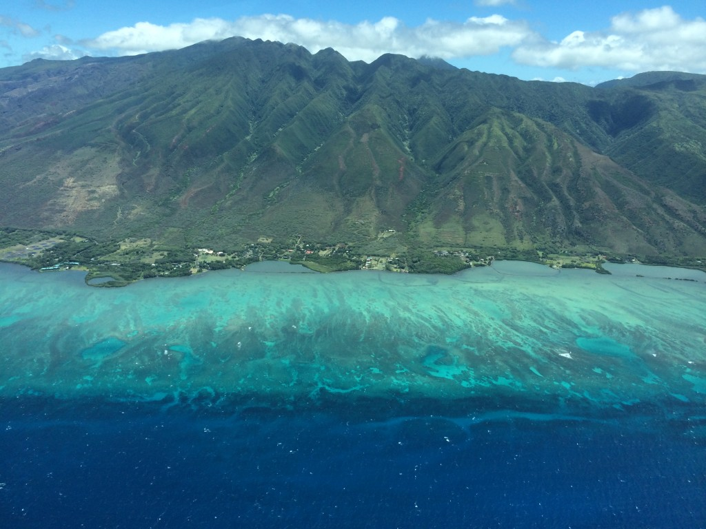 Molokai, Hawaii, view from plane, Mokulele Airlines