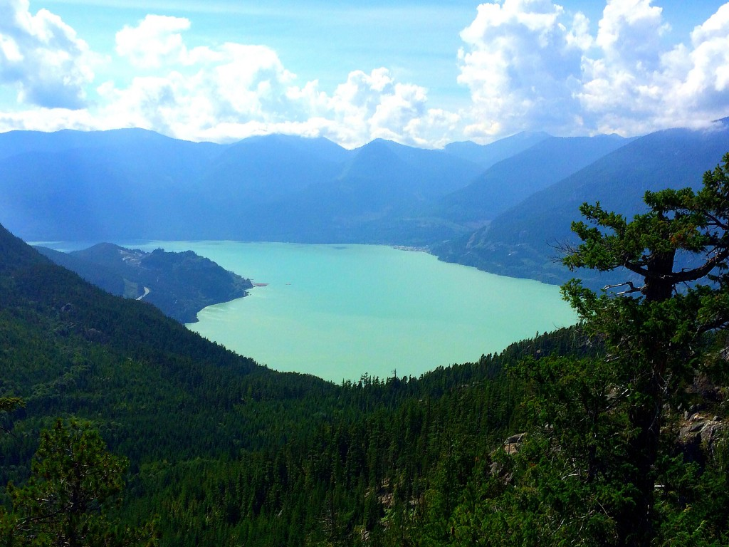 view atop squamish