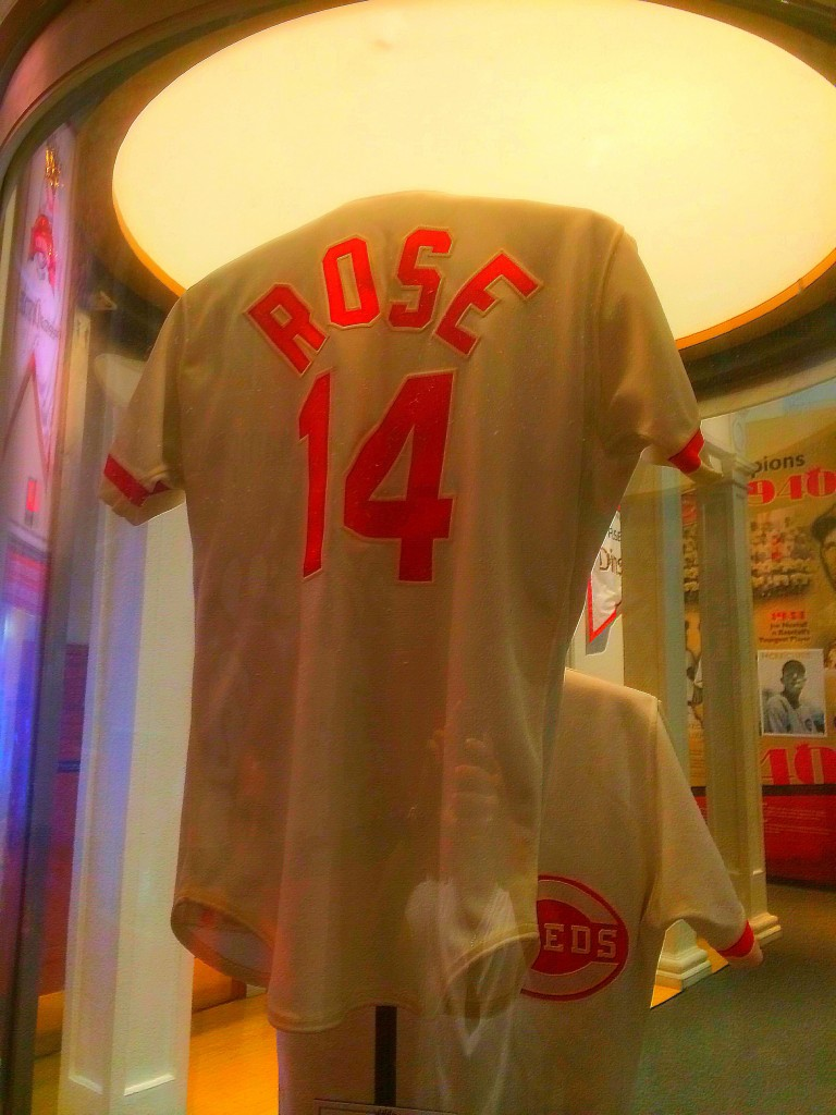 Pete Rose jersey, Reds Hall of Fame