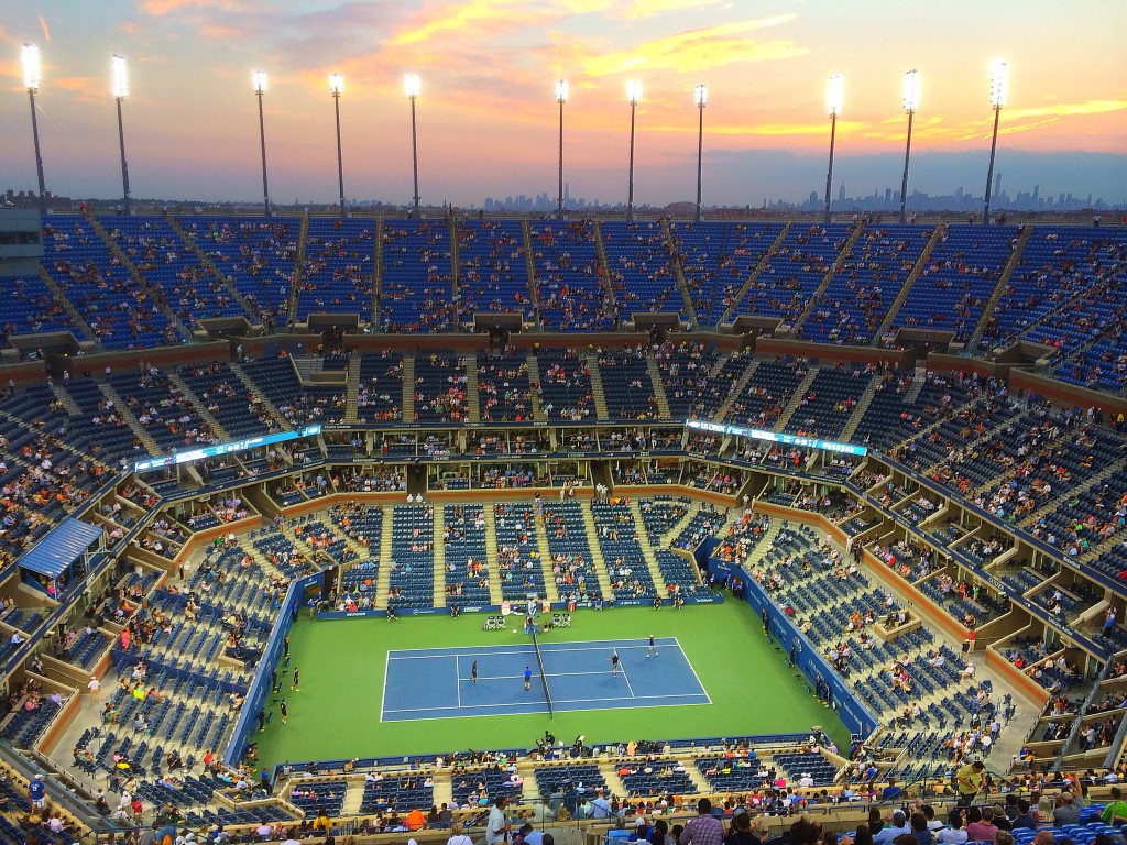 US Open, sunset