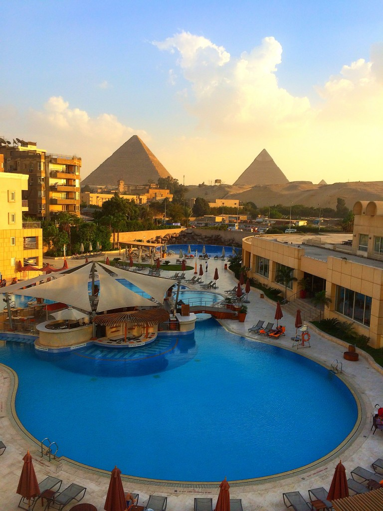 View from Le Meridien Pyramids, Pyramids, Cairo, Egypt, Africa