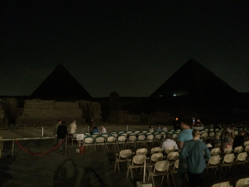 Light and sound show, Cairo, Egypt