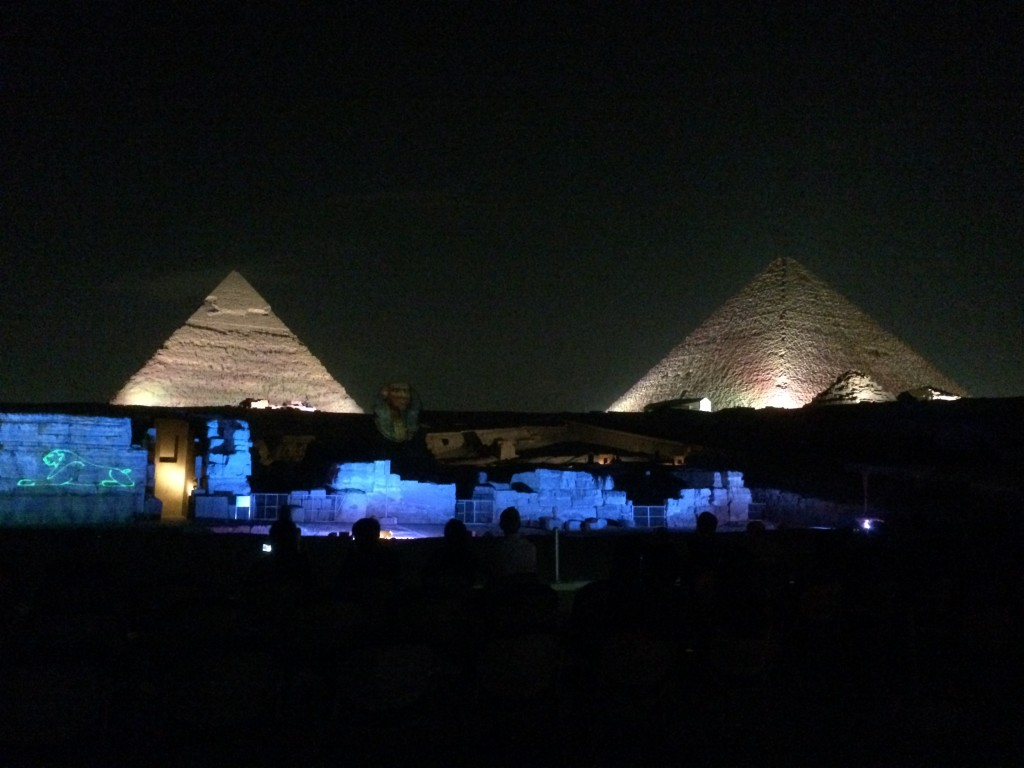 Light and sound show, Cairo, Egypt, pyramids
