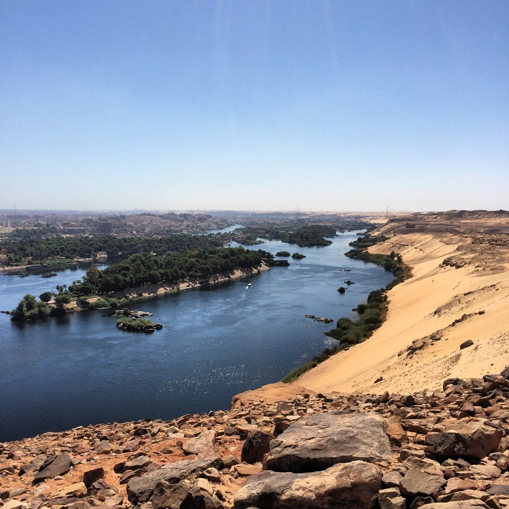 Nile River view, Aswan, Egypt