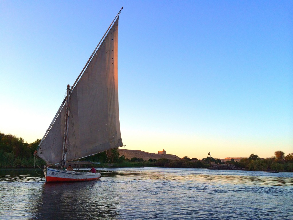Sunset felucca tour, Aswan, Egypt, Nile River
