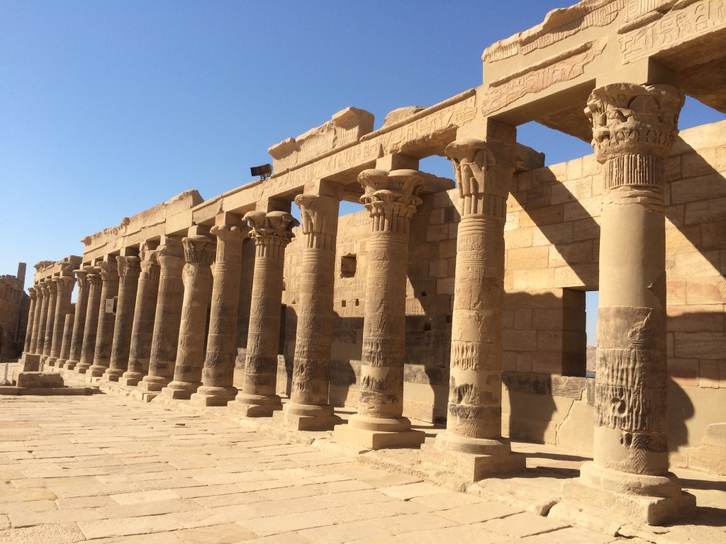 Philae Temple, Aswan, Egypt, Columns