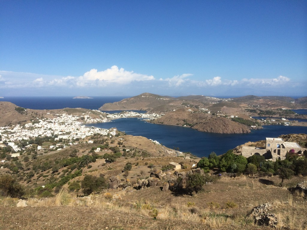 Patmos, view, Chora, Greece