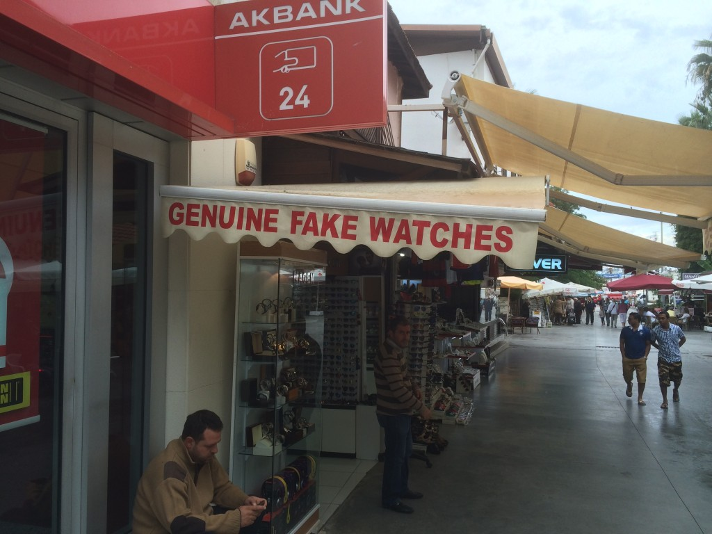 Kusadasi, Turkey, Bazaar, genuine fake watches
