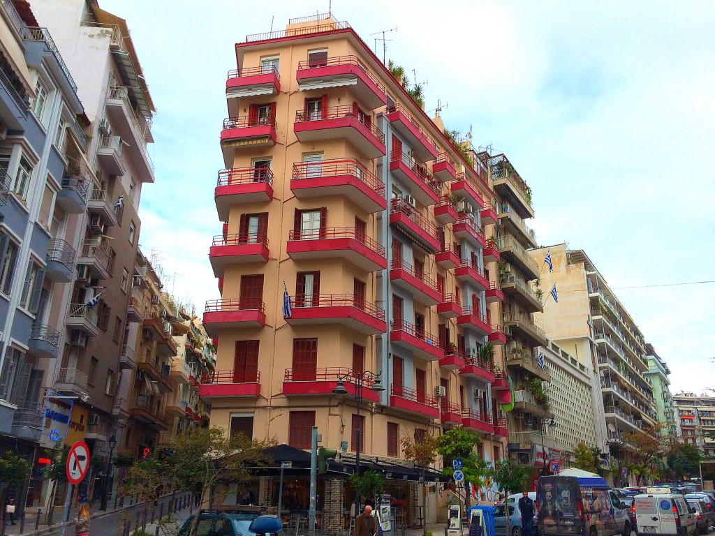 Thessaloniki, Greece, apartment, building