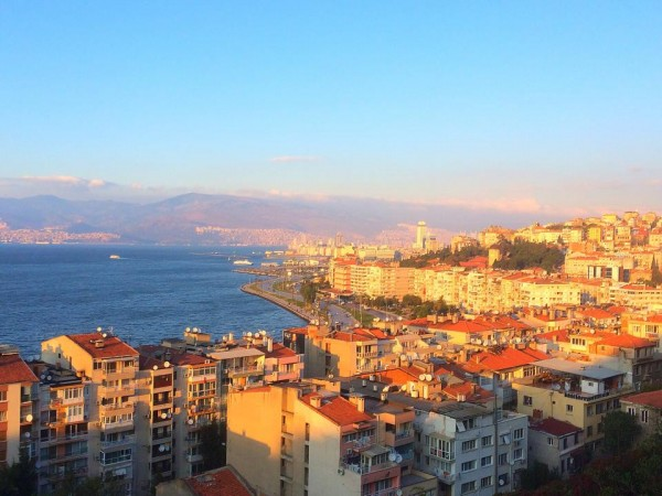 Panoramic view of the coastline of Izmir, Turkey, Izmir
