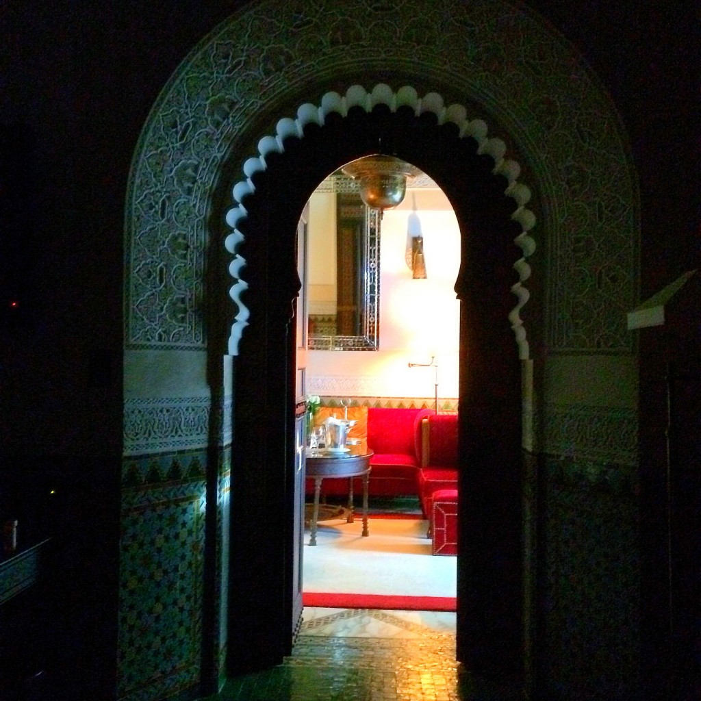 view from bed, La Mamounia, Marrakech, Morocco, luxury, hotel