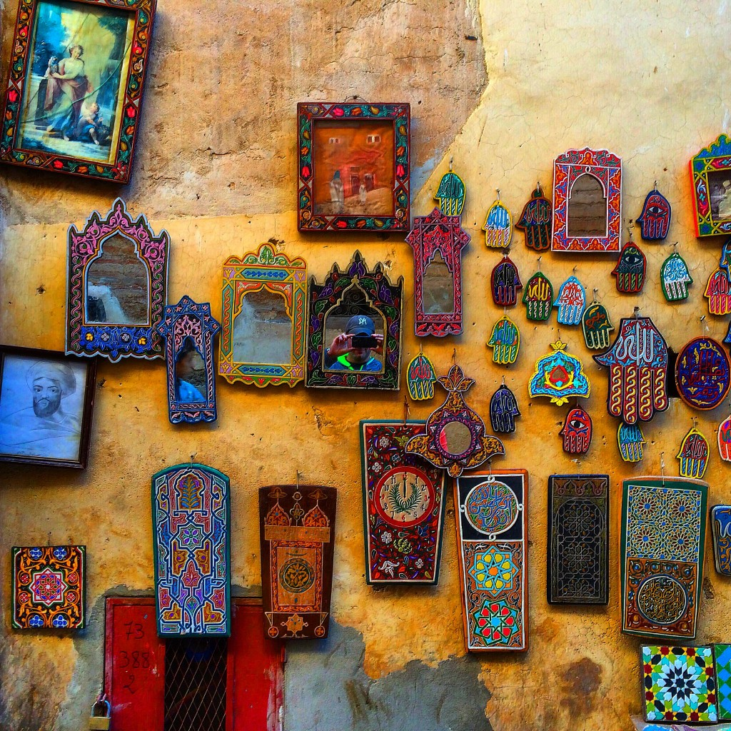 Marrakech, Morocco, old city wall, colors