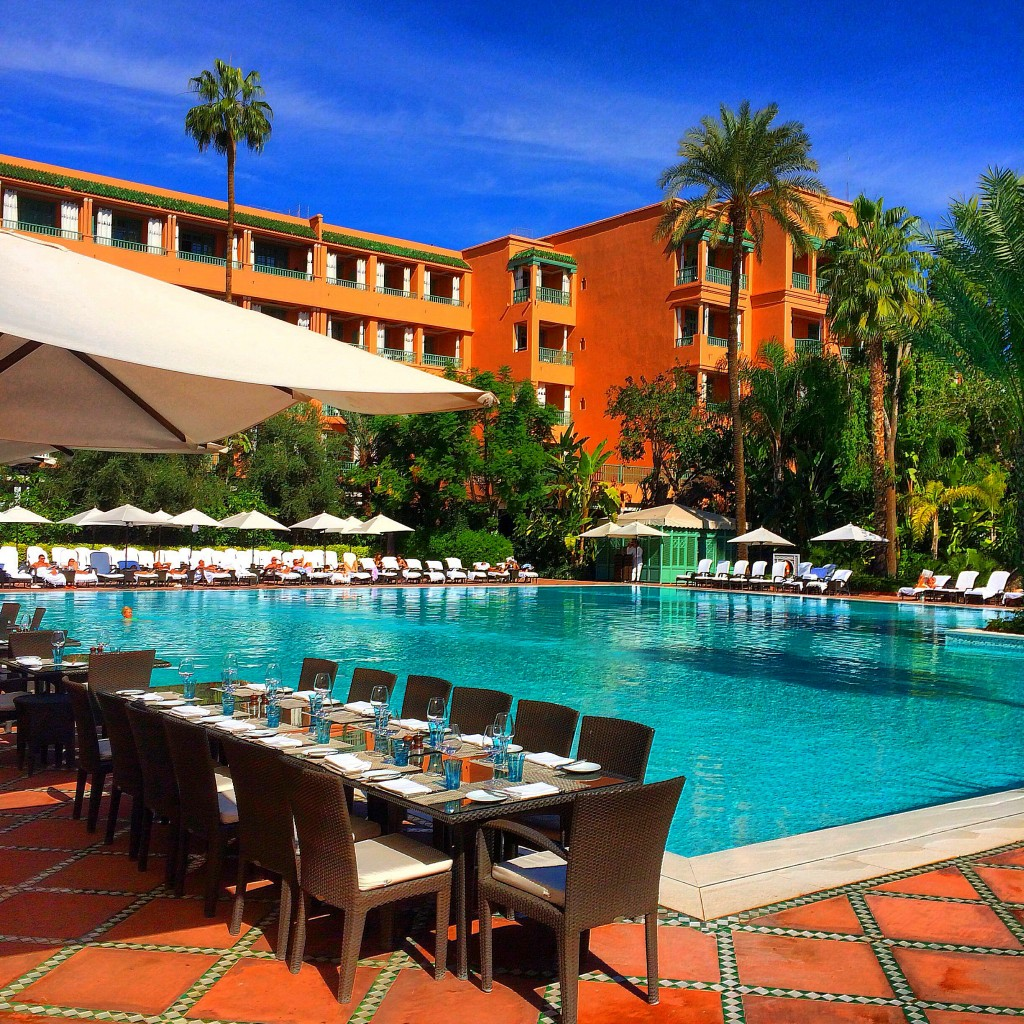 La Mamounia, Marrakech, Morocco, luxury, hotel, pool, view
