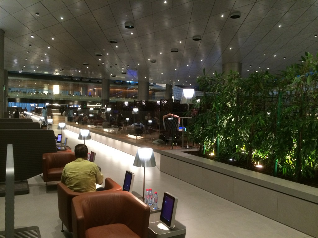 Qatar Airways business class lounge, view