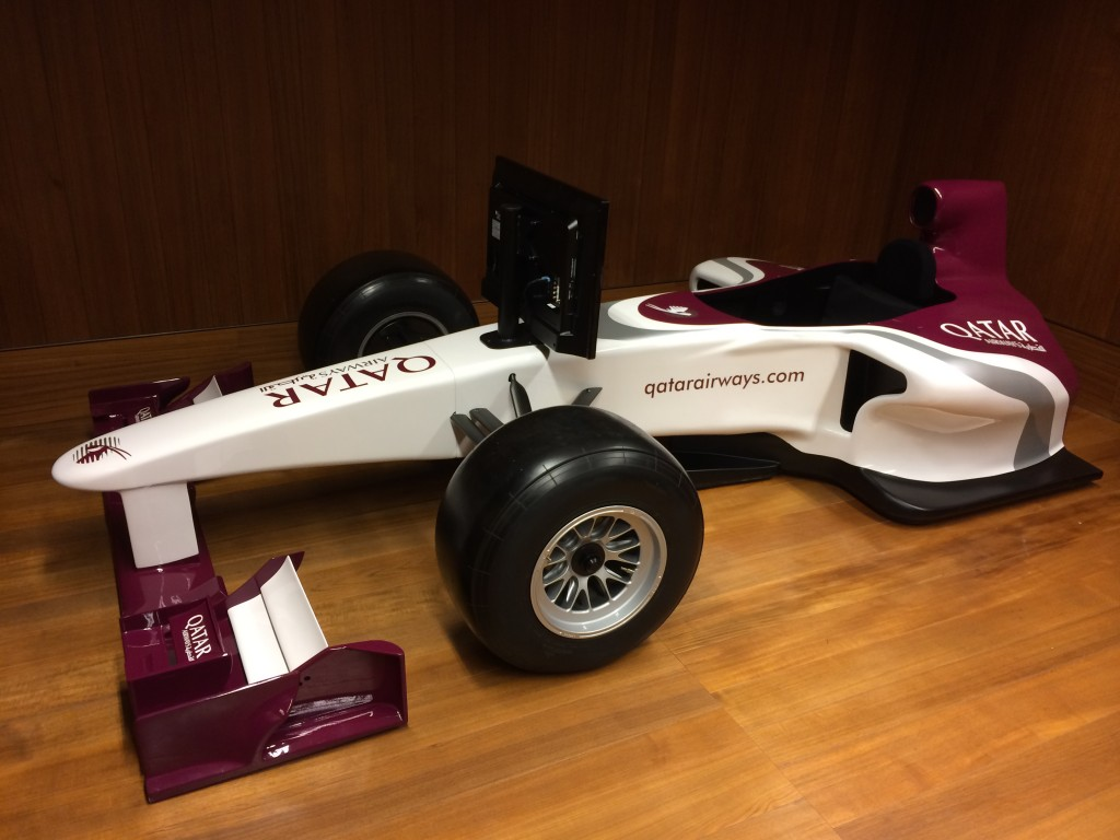 Qatar Airways, race car