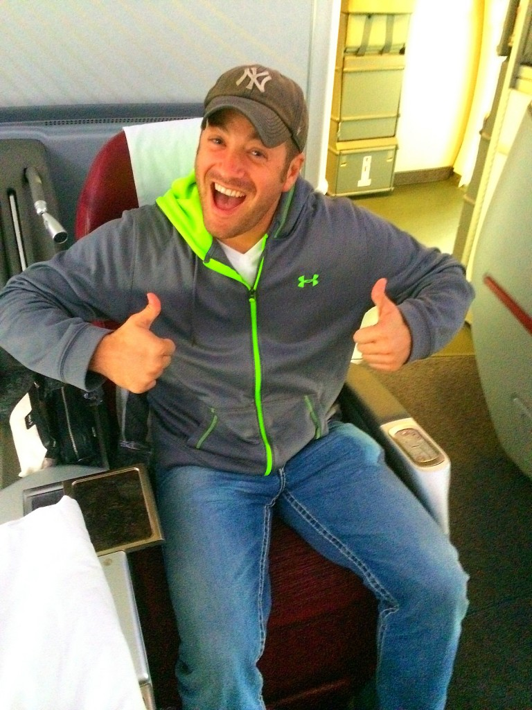 Qatar Airways business class, Lee Abbamonte
