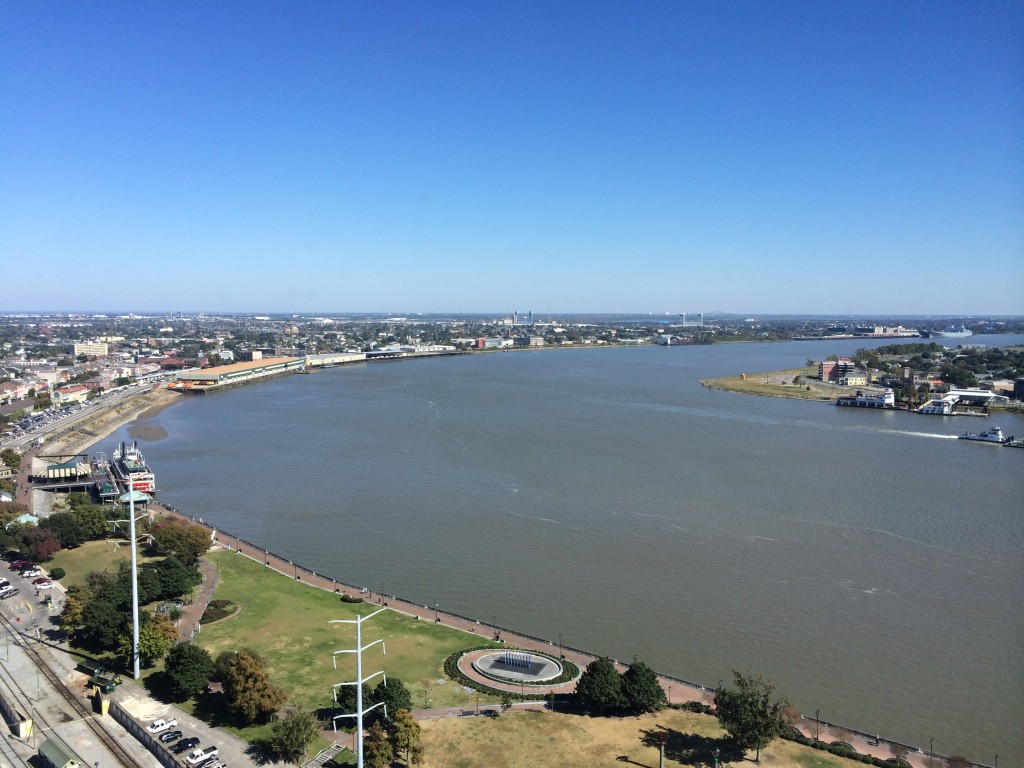 New Orleans, Louisiana, View of Mississippi River from the Westin New Orleans Canal Place