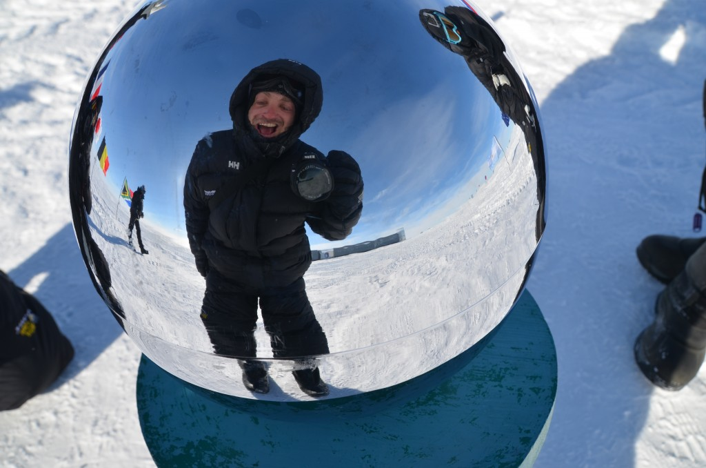 Lee Abbamonte, Ceremonial South Pole, globe, South Pole