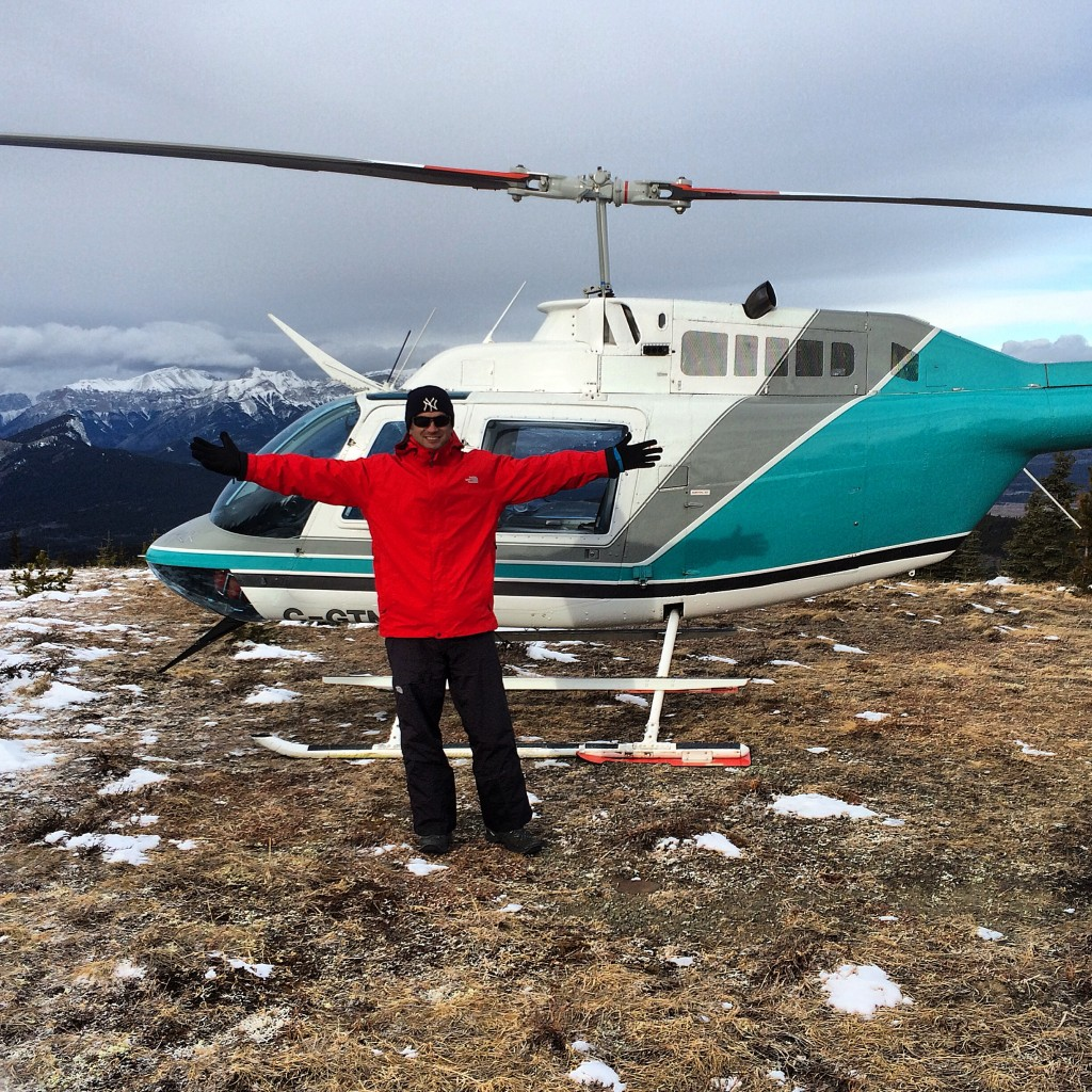 Rockies Heli, helicopter, heli snowshoeing, Alberta, Canada, Lee Abbamonte