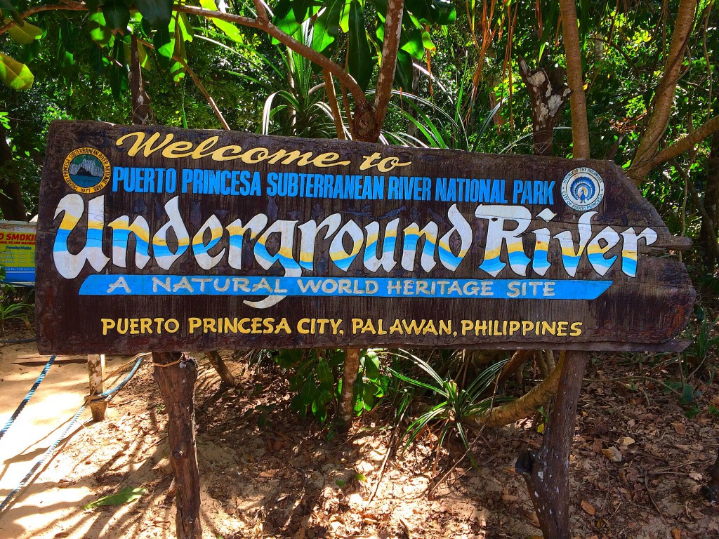 Puerto Princesa Subterranean River, Philippines, Sabang, entrance sign
