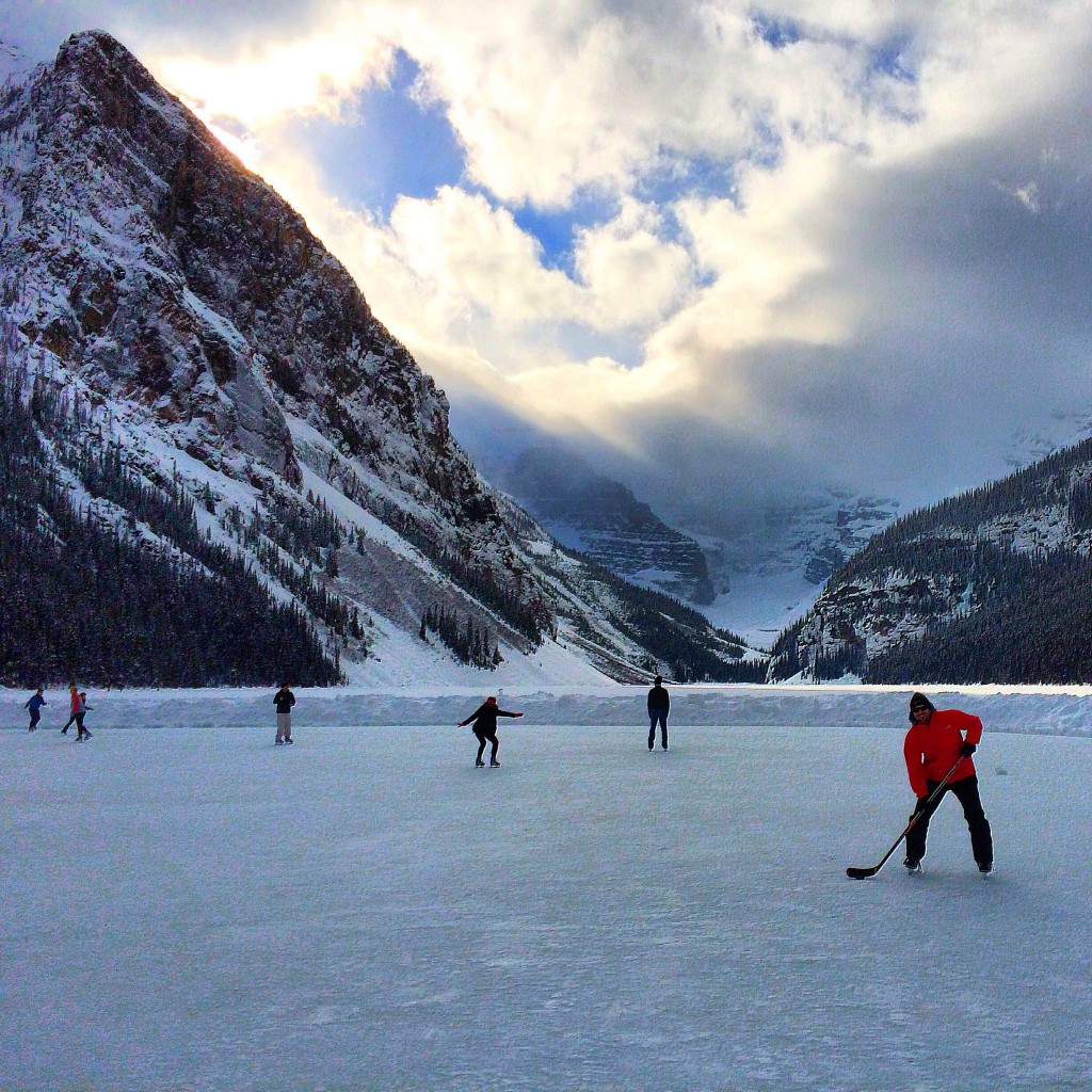 Lee ABbamonte, pond hockey, Lake Louise