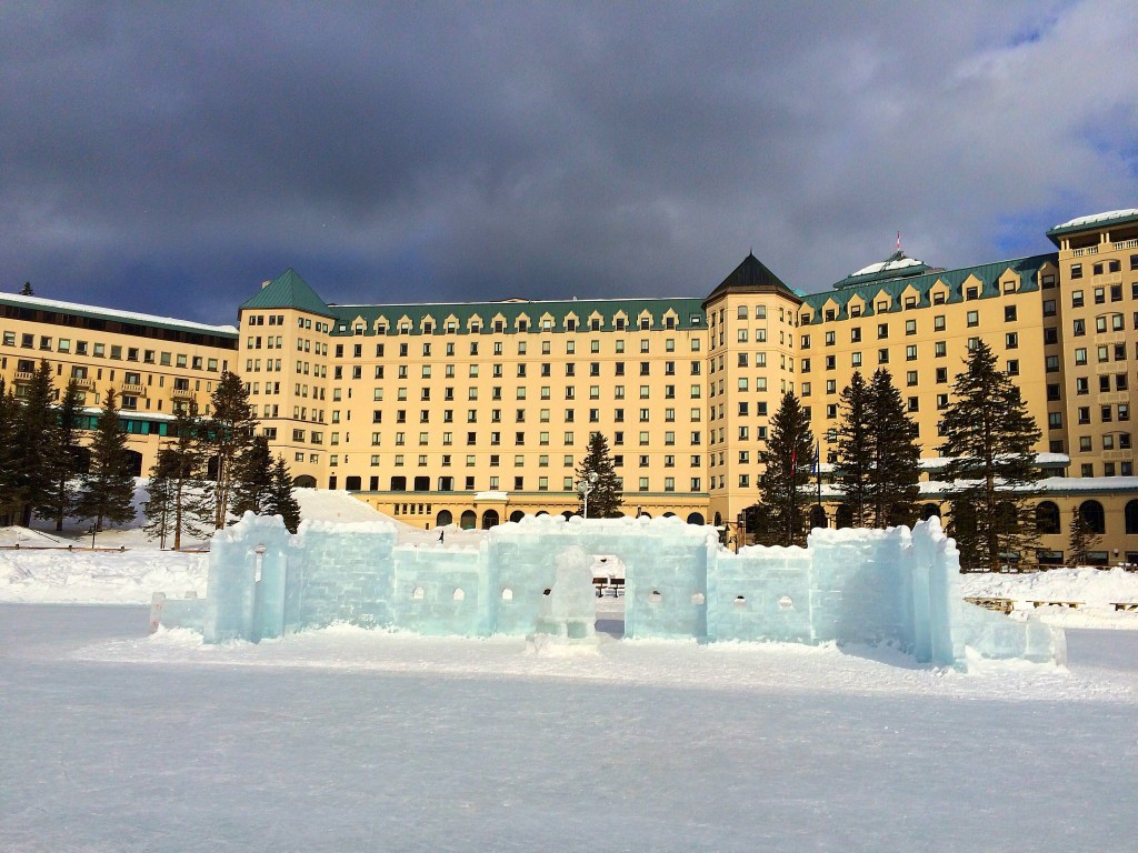 Fairmont Chateau Lake Louise, pond hockey, lake Louise