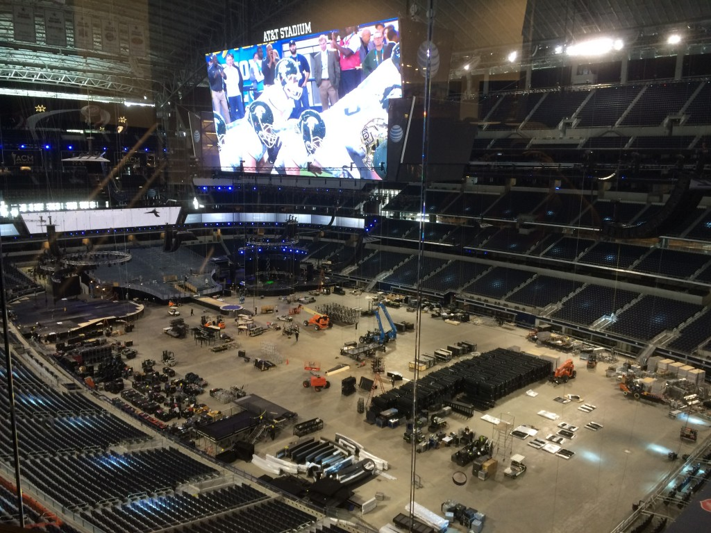 ACM awrads set up, AT&T Stadium Tour