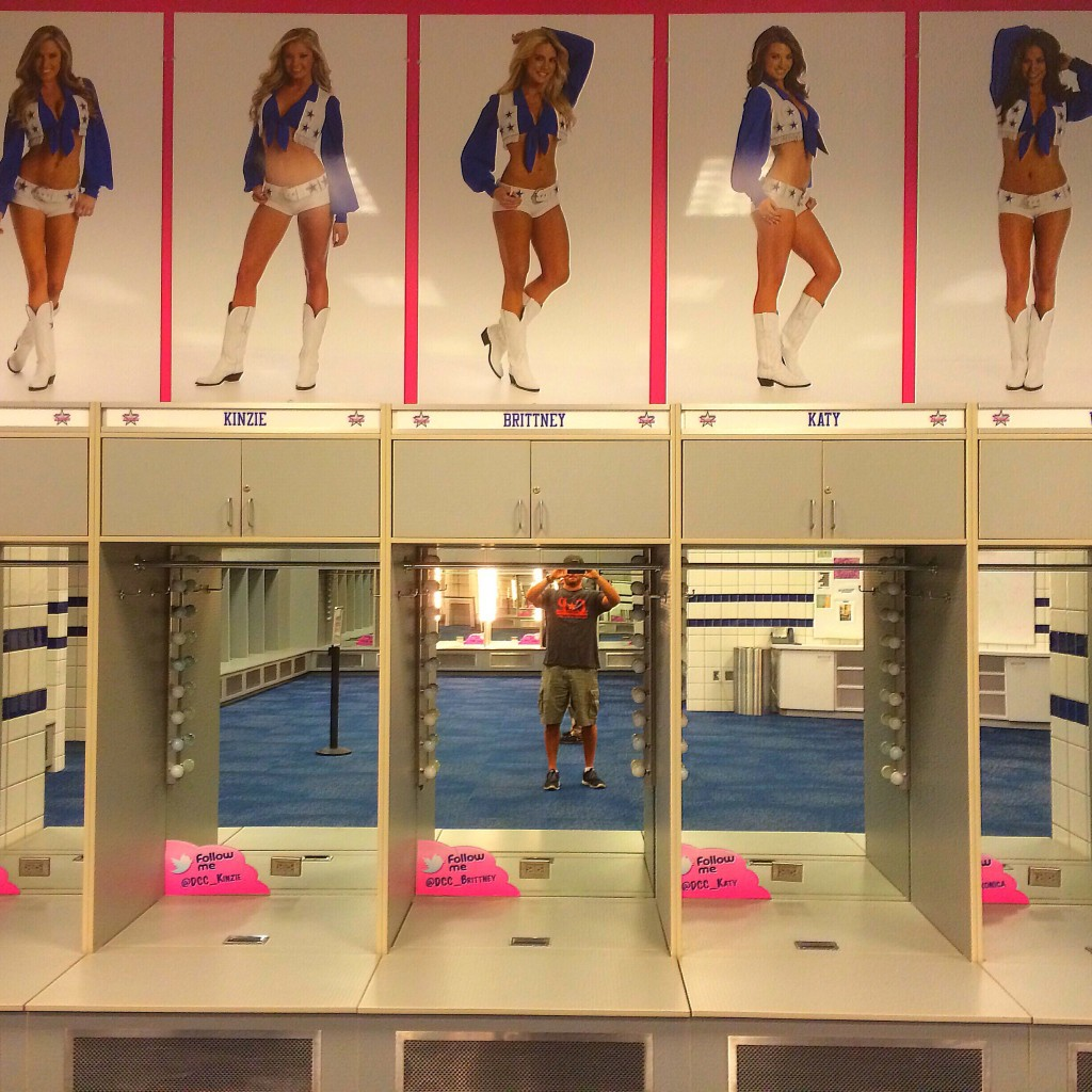 Dallas Cowboys Cheerleaders locker room