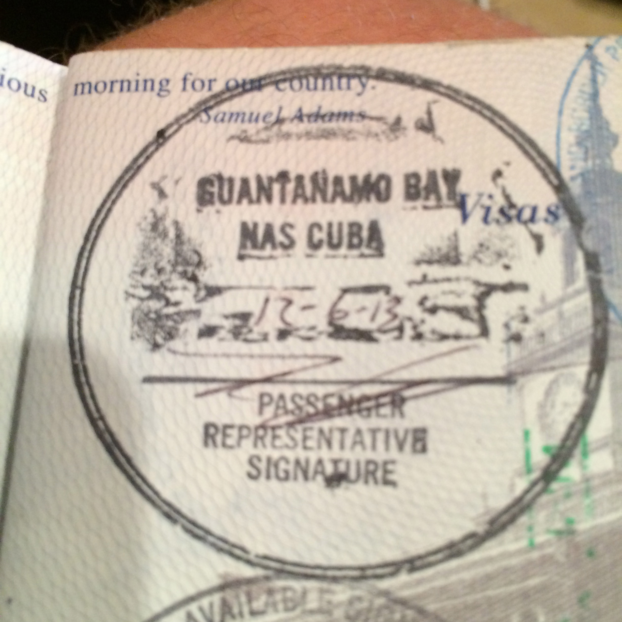Guantanamo Bay Cuba Passport Stamp