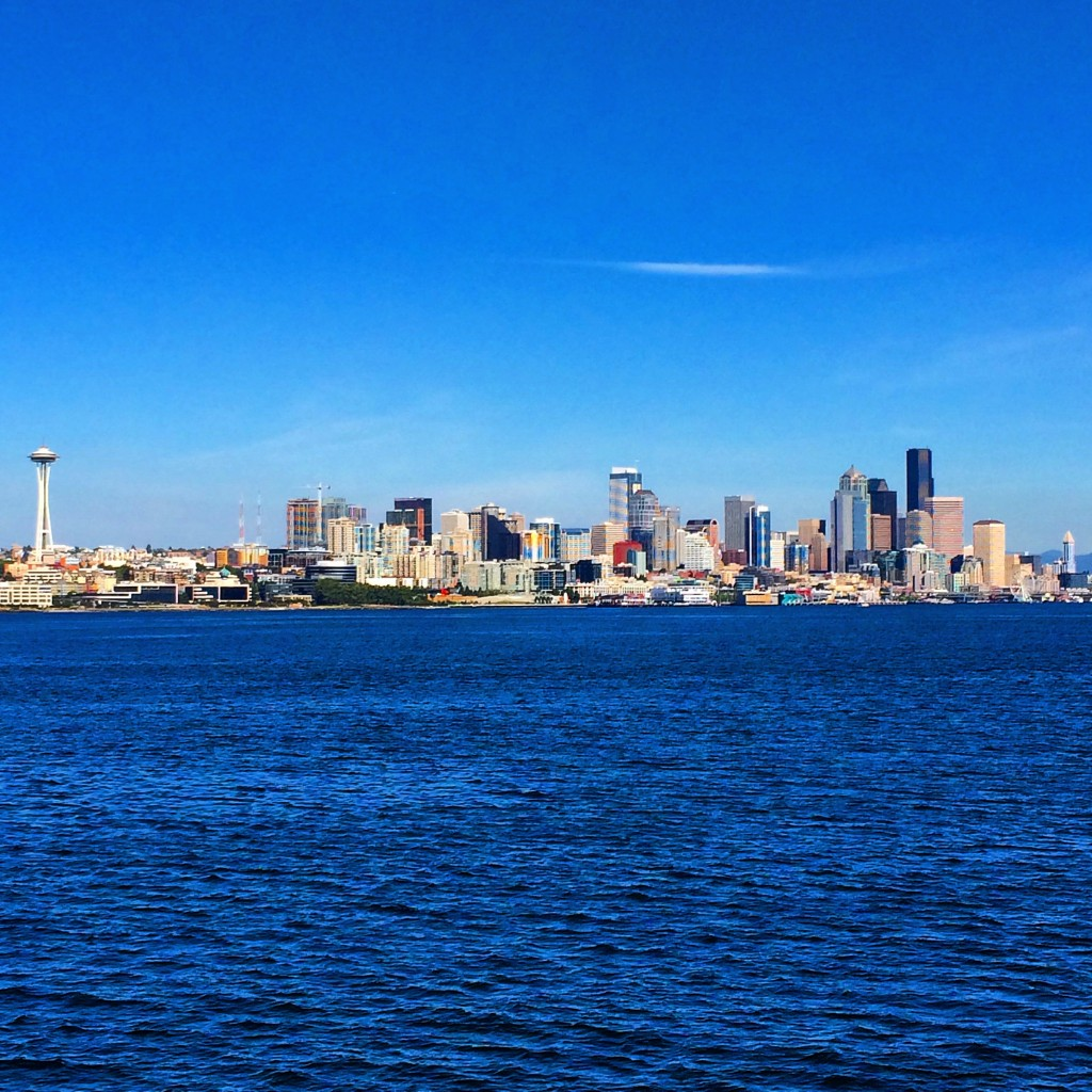 Seattle, Washington State, view from Puget SOund