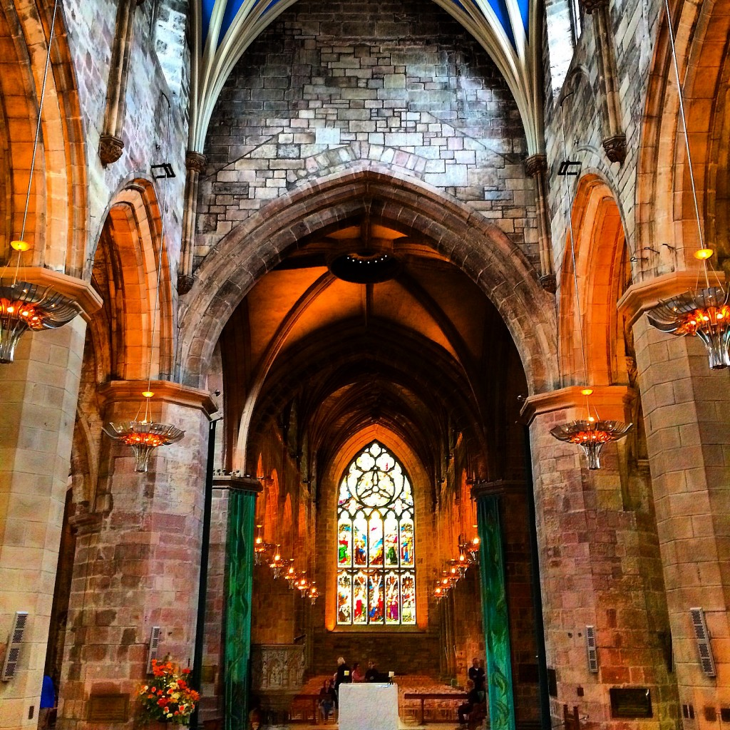 Inside St. Giles Cathedral, Edinburgh, Scotland