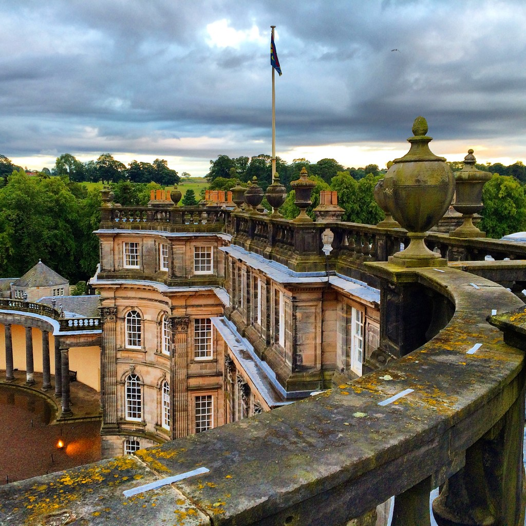 Hopetoun House, Scotland, AzAmazing Evening, Azamara Quest, roof view