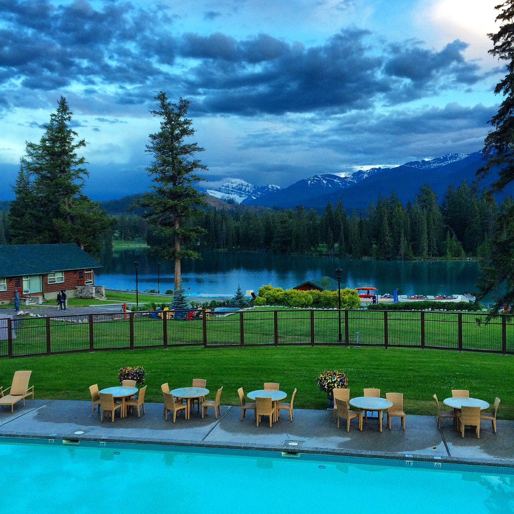 Fairmont Jasper Park Lodge, Jasper, Alberta, Canada, night view
