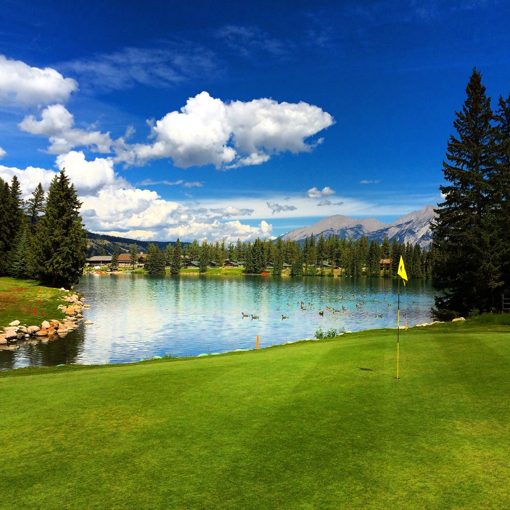 Fairmont Jasper Park Lodge, Jasper, Alberta, Canada, golf course, golf, 16th green