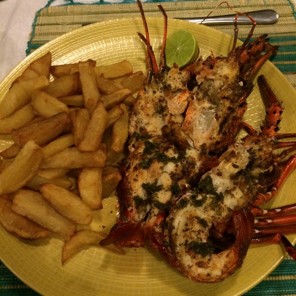 lobster, Beach Bar, food, Nosy Be, Madagascar