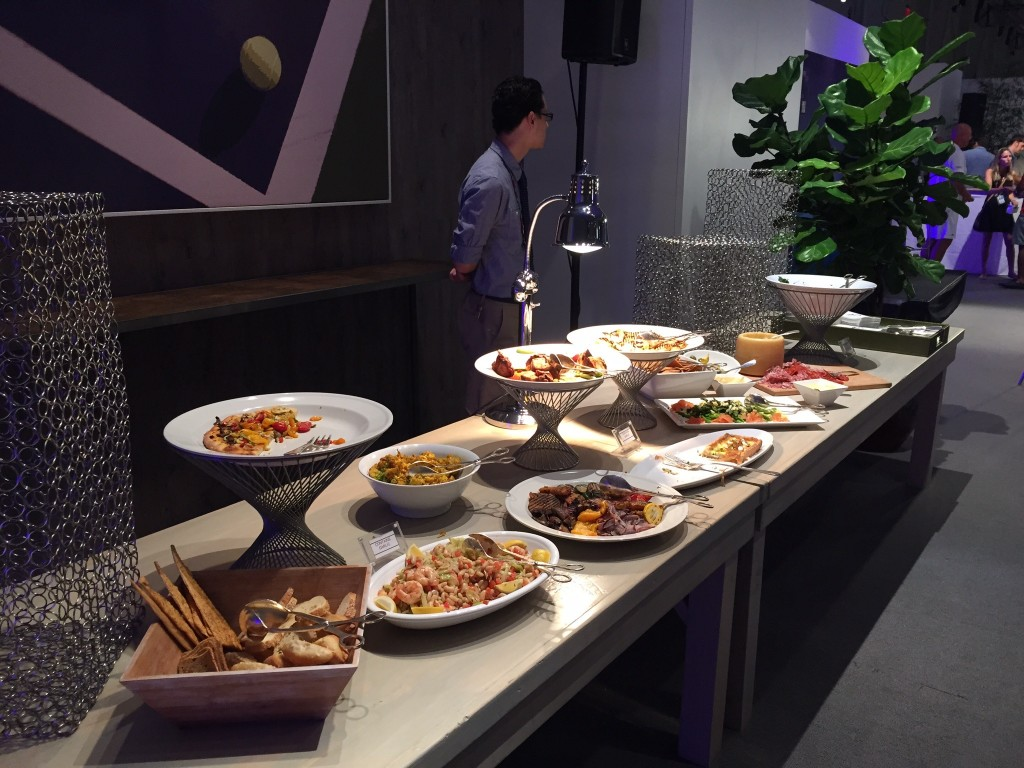 Just part of the food spread at the SPG Amex event with Agassi