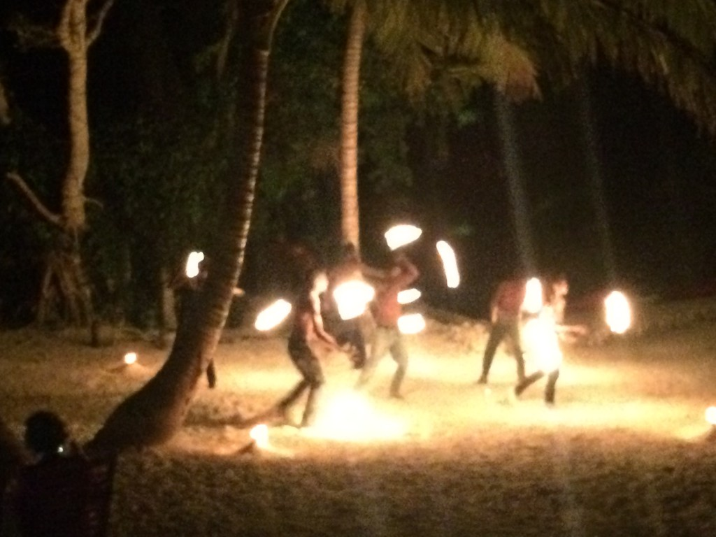 Vanuatu, fire dancers, Aquana Beach Resort