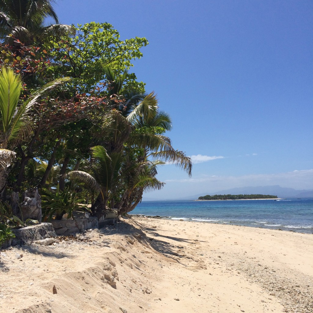 Beachcomber Island, Fiji, bula, view from side