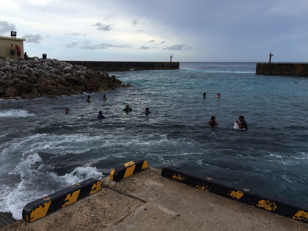 Nauru, swimming, harbor