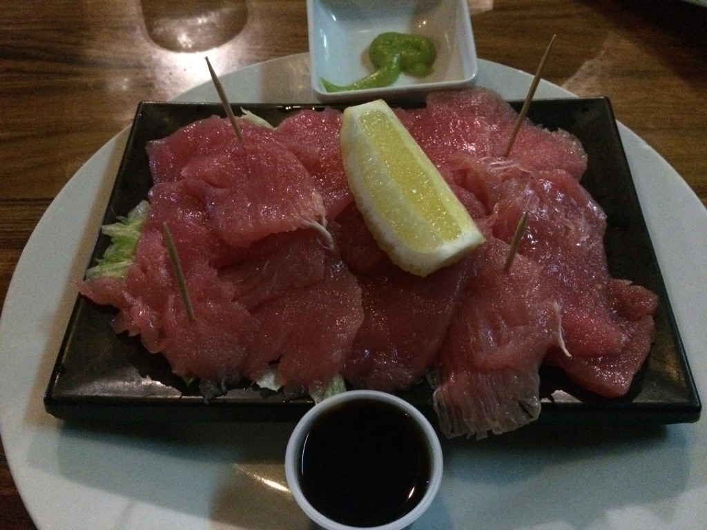 tuna sashimi, The Bay Restaurant, Nauru, Bay Restaurant