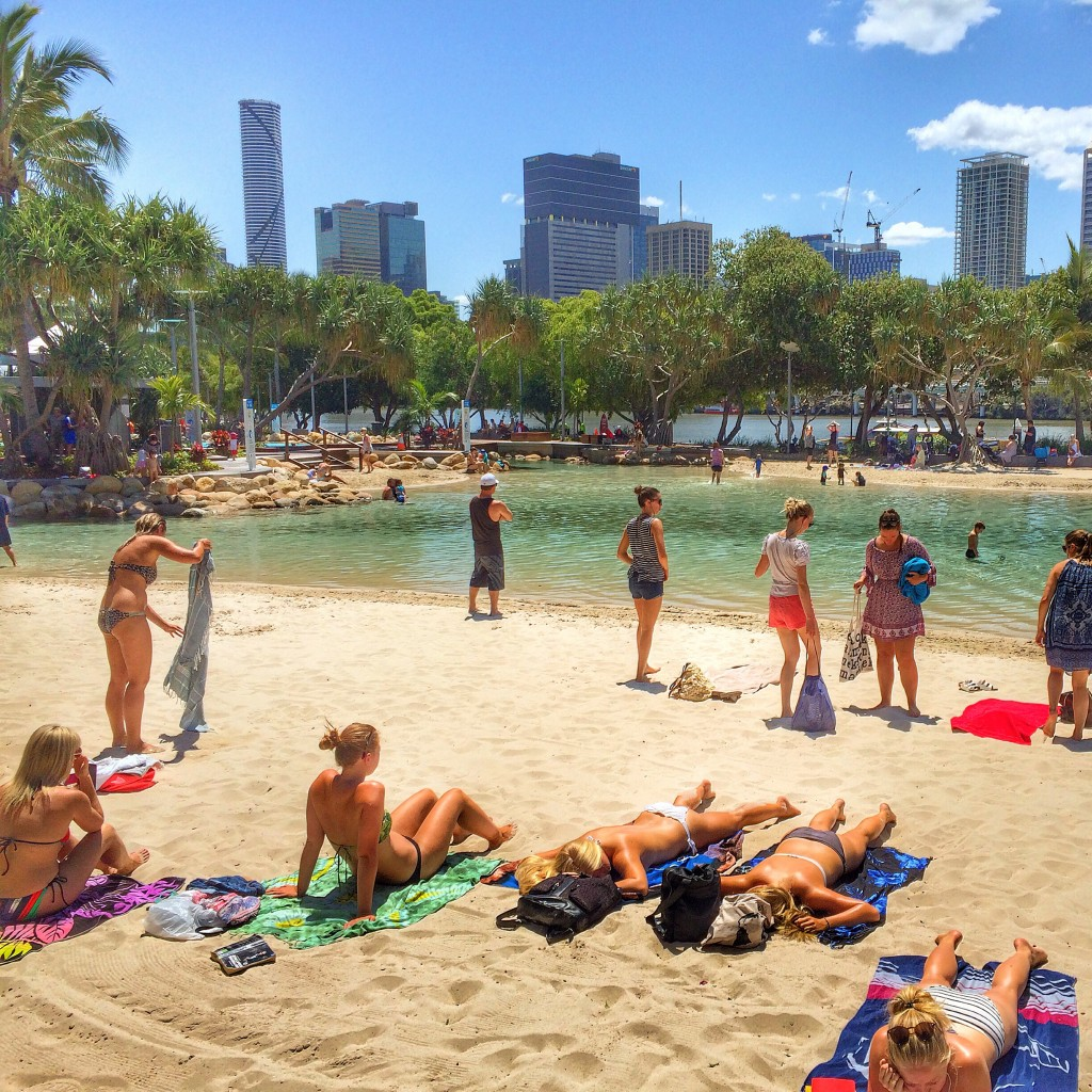 Brisbane, Queensland, Australia, A Perfect Day in Brisbane, Brisvegas, man made beach, beach