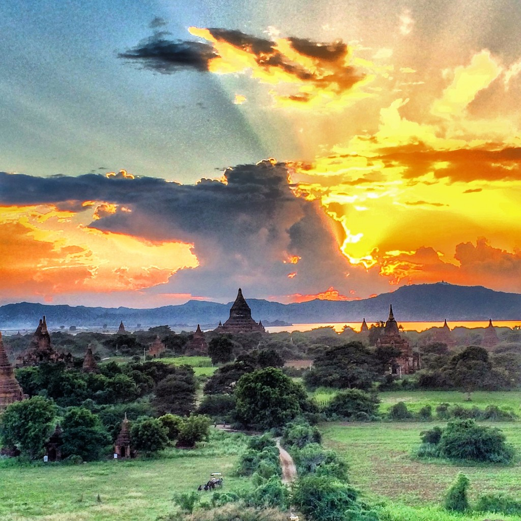 Bagan, Myanmar, sunset, Burma, amazing