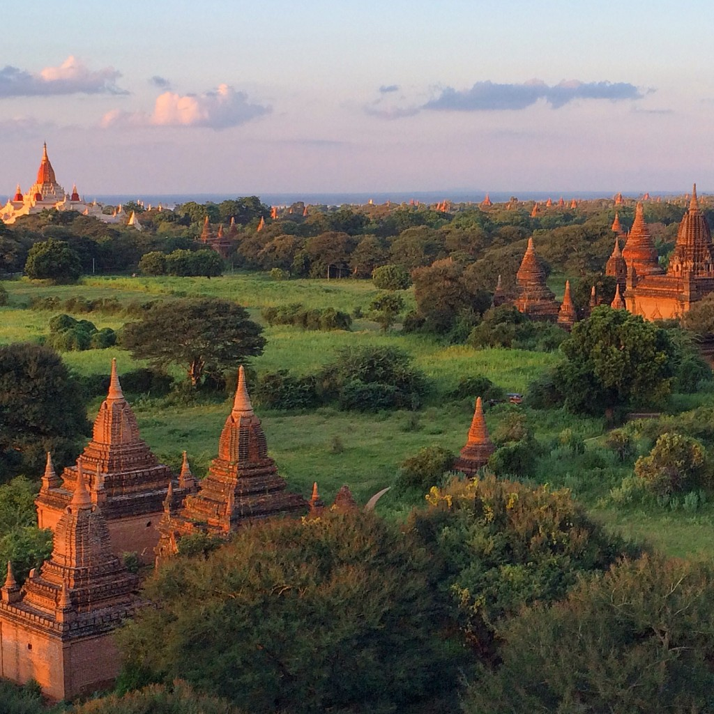 Bagan, sunset, Myanmar, Burma
