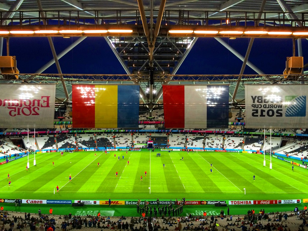 London, England, Rugby World Cup, Olympic Stadium, France, Romania