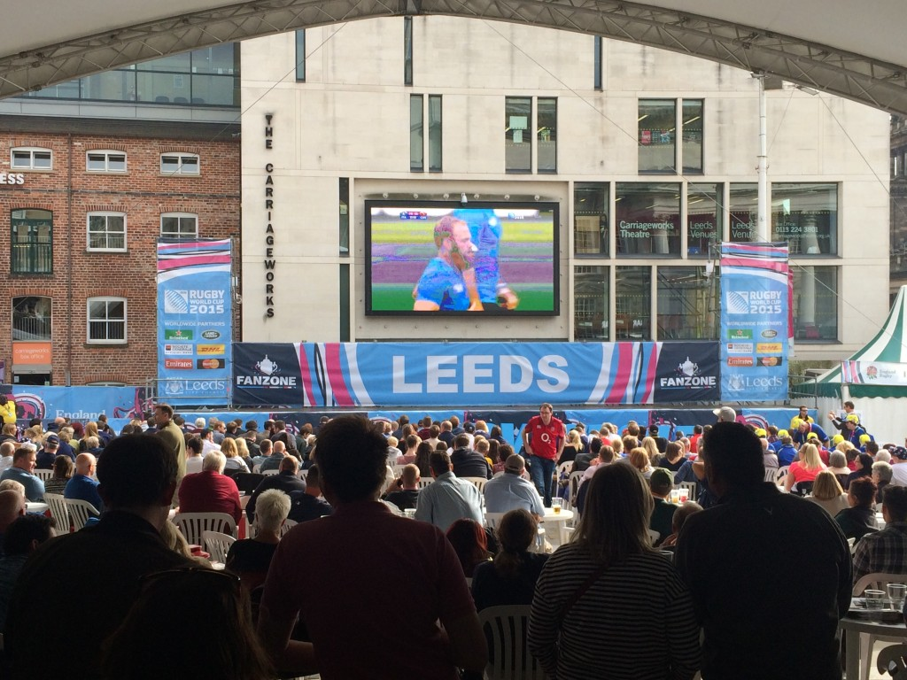 Leeds, England, fan zone, Rugby World Cup