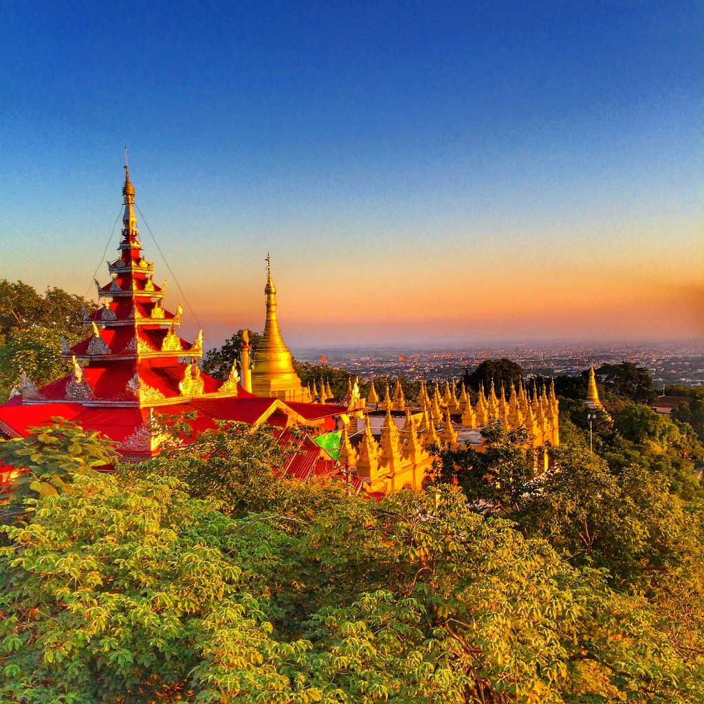 Mandalay, Myanmar, Burma, Mandalay Hill, stupa, temple